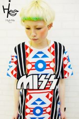 "Sale40%off 【High-Me TOKYO】 ""MISS"" ビッグロゴネックレス"