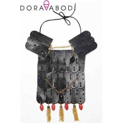 画像1: Sale50%off 【DORA ABODI】 レザーパーツネックレス