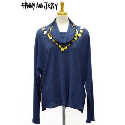 画像1: Sale70%off 【FANNY AND JESSY】 メダル装飾カットソー