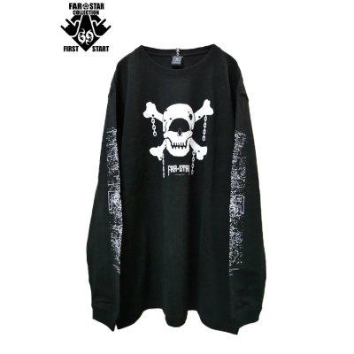 画像1: 【FAR★STAR】 スカルロングスリーブTシャツ