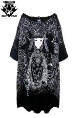 "Sale20%off 【FAR★STAR】 ""日本人形 + BAD FEELING"" 変形ビッグカットソー"