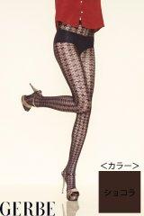 """Sale50%off 【GERBE】 """"PIED DE POULE"""" ストッキング / ショコラ"""
