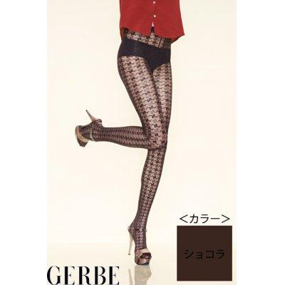 """画像1: Sale50%off 【GERBE】 """"PIED DE POULE"""" ストッキング / ショコラ"""