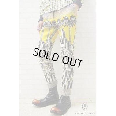 画像1: Sale80%off 【JC de CASTELBAJAC】 ジオメトリックメトロポリス柄タペストリーパンツ
