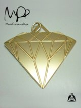 Sale70%off 【Maria Francesca Pepe】 DIAMOND PENDANT LARGE / Gold