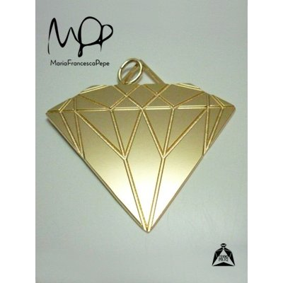 画像1: Sale70%off 【Maria Francesca Pepe】 DIAMOND PENDANT LARGE / Gold