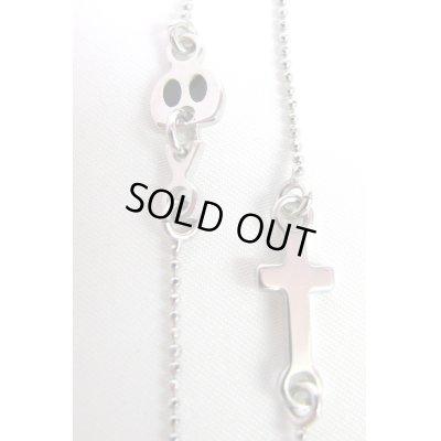 """画像2: Sale50%off 【Maria Francesca Pepe】 """"CROSS AND SKULL"""" チャームネックレス"""