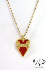 "Sale50%off 【Maria Francesca Pepe】 ""BROKEN HEART"" チャームネックレス"
