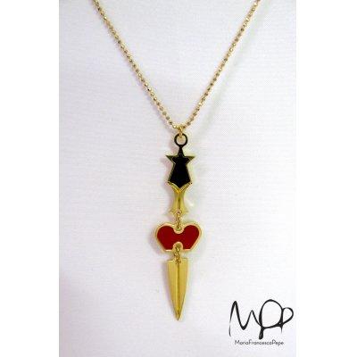 """画像1: Sale50%off 【Maria Francesca Pepe】 """"HEART+SWORD"""" チャームネックレス"""