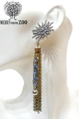 "【MERRYhoppingZOO】 ""sparkle crystal"" ピアス"