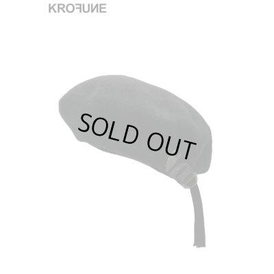 """画像1: 【KROFUNE】 """"Black Circle"""" ベレー帽"""