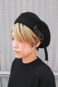 """画像2: 【KROFUNE】 """"Black Circle"""" ベレー帽 (2)"""