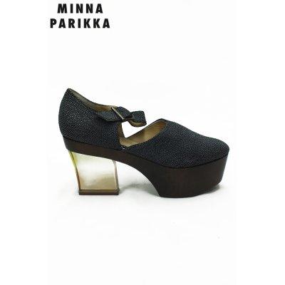 画像1: Sale70%off 【MINNA PARIKKA】 エイ型押しレザーパンプス