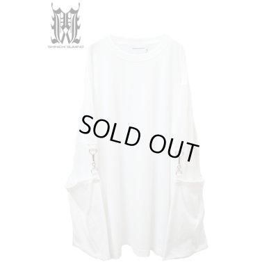 画像1: 【SHINICHI SUMINO】 ムスリンロングスリーブTシャツ / ホワイト