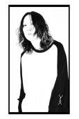 画像6: 【SHINICHI SUMINO】 ラグランムスリンロングスリーブTシャツ / ホワイト × ブラック (6)