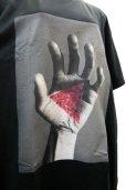 """画像5: 【沈み】 """"ひび"""" プリントTシャツ / ブラック  (5)"""