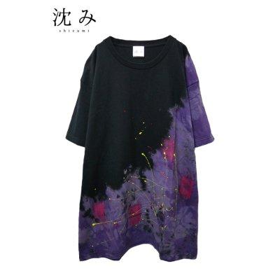 """画像1: 【沈み】 """"罪人と蜘蛛"""" Tシャツ"""