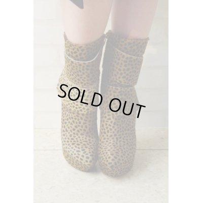 画像2: Sale90%off 【Tanja S London】 ダブルベルトレオパードブーツ