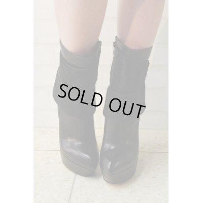 画像2: Sale90%off 【Tanja S London】 ダブルベルトブラックブーツ