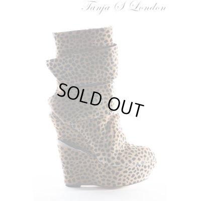 画像1: Sale90%off 【Tanja S London】 ダブルベルトレオパードブーツ