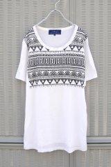 ▲USED▲【Milok】 トライバルプリントTシャツ