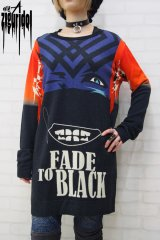 "Sale30%off 【ZIG UR IDOL】 ""FADE TO BLACK"" フルプリントニットトップス"