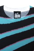 """画像5: ★期間限定★ Sale50%off 【ZIG UR IDOL】 """"DELA-ZEBRA"""" フルプリントカットソー / ブルー (5)"""