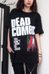 "Sale30%off 【DEAD COMBO × ZIG UR IDOL】 ""でっどこんぼ"" Tシャツ"