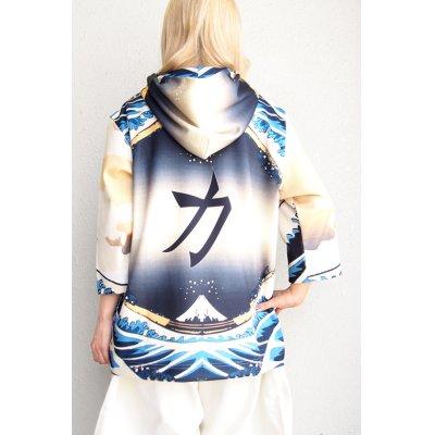 """画像2: 【ZIG UR IDOL】 """"KABUKI STARDUST"""" グラフィック7分袖パーカー"""