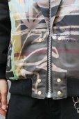 """画像9: 【ZIG UR IDOL】 """"ELDER SKELTER"""" グラフィックブルゾン / ブラックリブ (9)"""