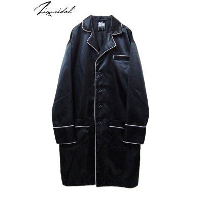 画像1: 【ZIG UR IDOL】 「24 hours」 ミッドナイトロングジャケット / ブラック