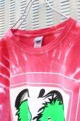 画像3: 【SADIY&KöZIY × ZIG UR IDOL】 ダルマプリントタイダイTシャツ / レッド (3)