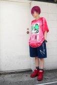 画像8: 【SADIY&KöZIY × ZIG UR IDOL】 ダルマプリントタイダイTシャツ / レッド (8)