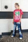 画像11: 【SADIY&KöZIY × ZIG UR IDOL】 ダルマプリントタイダイTシャツ / レッド (11)